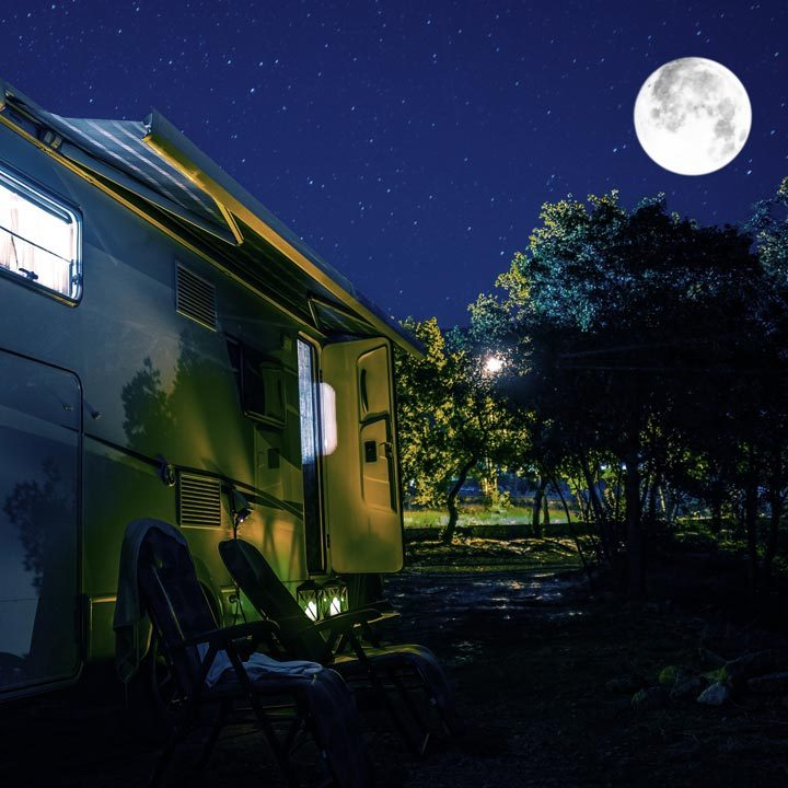 Camping Under The Moon